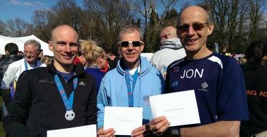 HRR Prize winners at the Fleet Half Marathon